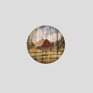 farm red barn Mini Button