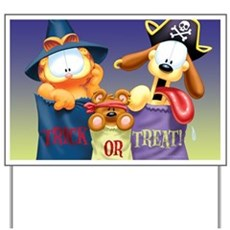 Garfield Trick or Treat Yard Sign