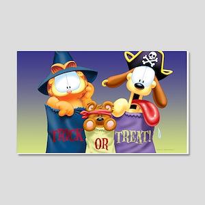 Garfield Trick or Treat 20x12 Wall Decal