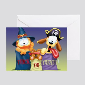 Odie greeting cards cafepress garfield trick or treat greeting card m4hsunfo