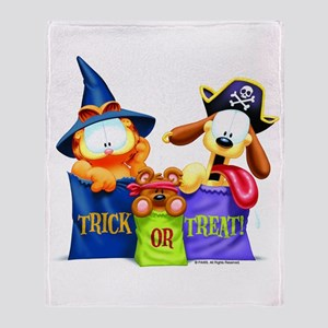 Garfield Trick or Treat Throw Blanket