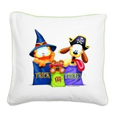 Garfield Trick or Treat Square Canvas Pillow