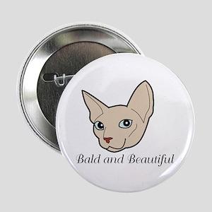 """Baldy Cat 2.25"""" Button"""