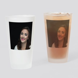 Woman Smiling Drinking Glass