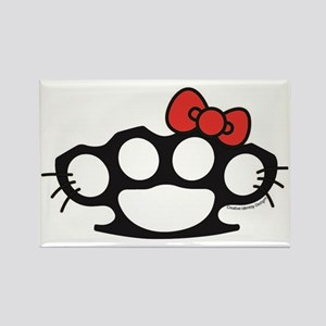Hello Kitty Brass Knuckle Rectangle Magnet