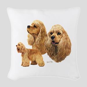 Cocker Spaniel (American) Woven Throw Pillow