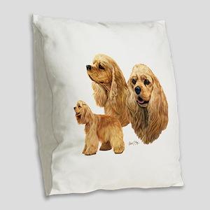 Cocker Spaniel (American) Burlap Throw Pillow