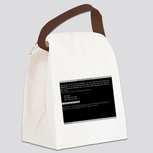 America Error Recovery Canvas Lunch Bag