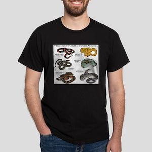 Venomous Snakes of South America Dark T-Shirt