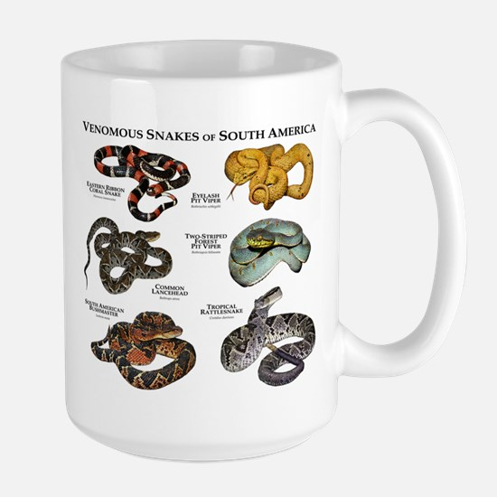 Venomous Snakes of South America Large Mug
