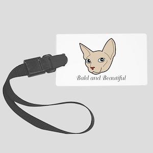 Baldy Cat Luggage Tag