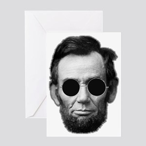 Abe Licoln and Cheap Sunglasses Greeting Card