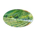Winery Vineyard Art Oval Car Magnet