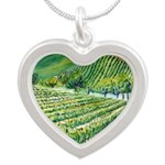 Winery Vineyard Art Necklaces