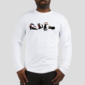 Cute Black Santa Cat Long Sleeve T-Shirt