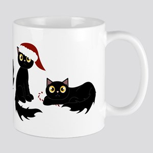 Cute Black Santa Cat Mugs