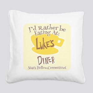 Eat At Lukes Square Canvas Pillow