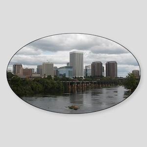 Richmond VA skyline Sticker (Oval)