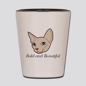 Baldy Cat Shot Glass