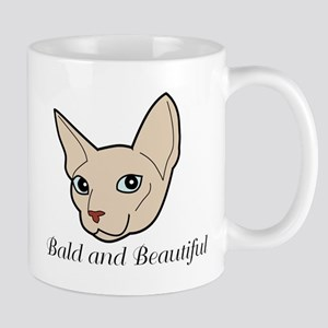 Baldy Cat Mugs