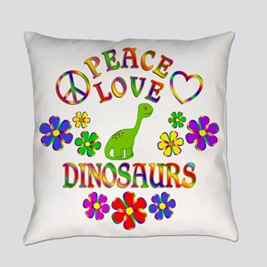 Peace Love Dinosaurs Everyday Pillow