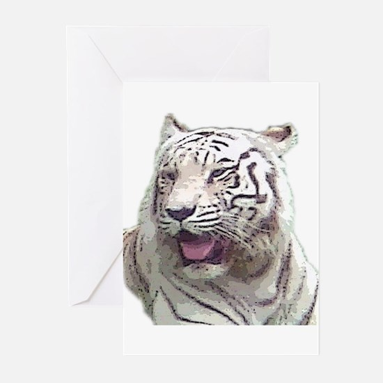 white tiger 4 Greeting Cards (Pk of 10)