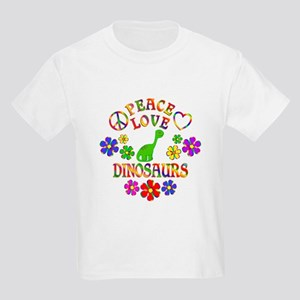 Peace Love Dinosaurs Kids Light T-Shirt