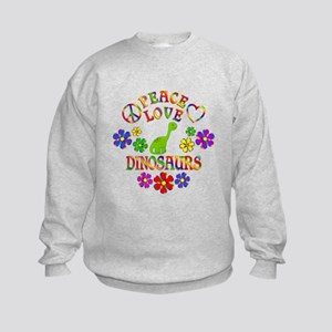 Peace Love Dinosaurs Kids Sweatshirt