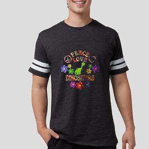 Peace Love Dinosaurs Mens Football Shirt