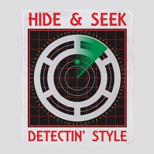 Hide Seek Detectin Style Throw Blanket