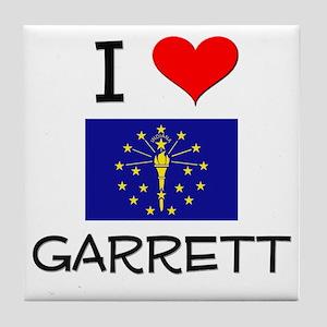 I Love GARRETT Indiana Tile Coaster