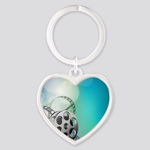 The Silver Screen Heart Keychain