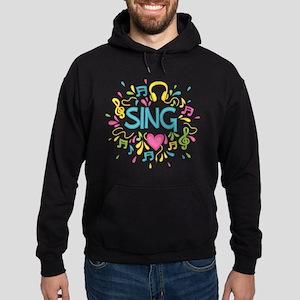 Sing Choir Music Hoodie (dark)