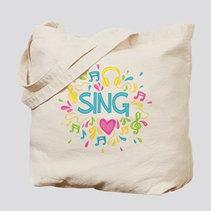 Sing Choir Music Tote Bag