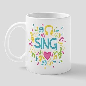 Sing Choir Music Mug