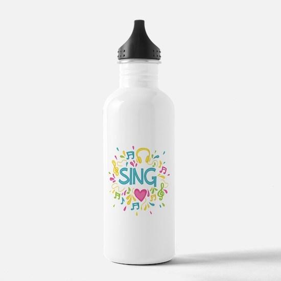 Sing Choir Music Water Bottle