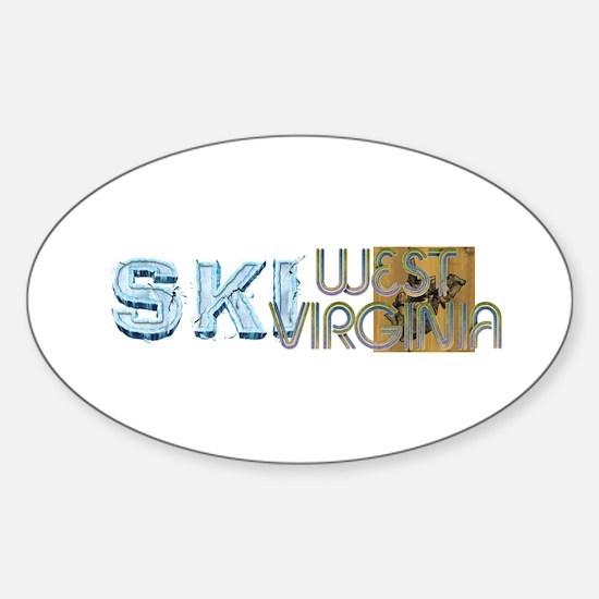 TOP West Virginia Skier Oval Decal