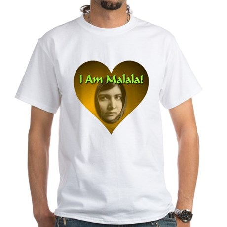 I Am Malala White T-Shirt
