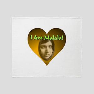 I Am Malala Throw Blanket