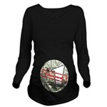 Long Sleeve Maternity T-Shirt (dark) 4