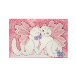 Sakura Cat Snuggles Rectangle Magnet