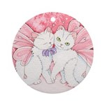 Sakura Kitty Snuggles Ornament (Round)