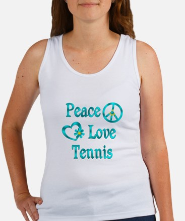 Peace Love Tennis Women's Tank Top