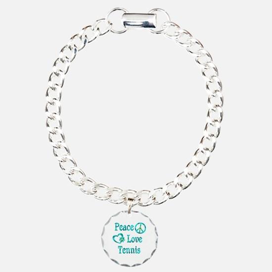 Peace Love Tennis Bracelet