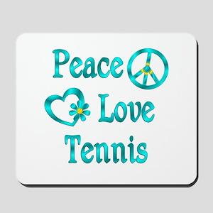 Peace Love Tennis Mousepad