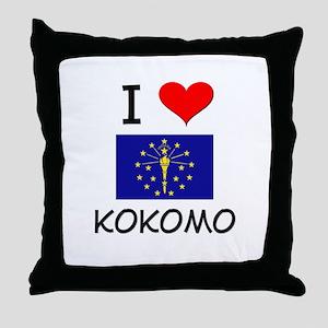 I Love KOKOMO Indiana Throw Pillow