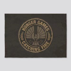 Catching Fire Capitol Logo 5'x7'Area Rug