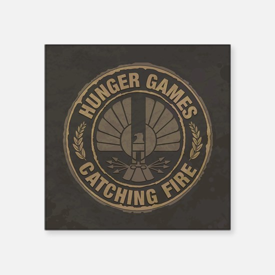 """Catching Fire Capitol Logo Square Sticker 3"""""""