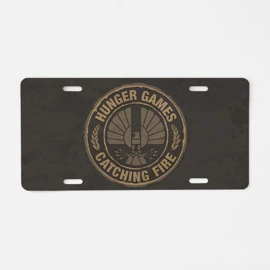 Catching Fire Capitol Logo Aluminum License Plate