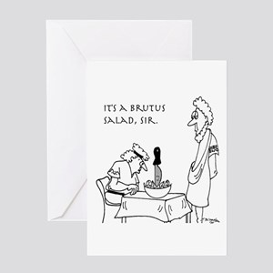 Ancient roman greeting cards cafepress brutus salad greeting card m4hsunfo